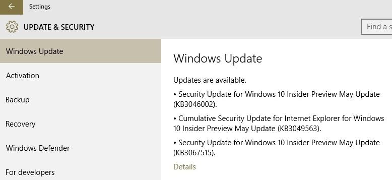 Kb3049563 kb3046002 kb3049576 kb3067515 security updates now security updates kb3049563 kb3046002 kb3049576 kb3067515 now available for windows 10 build 10122 build 10074 ccuart Images