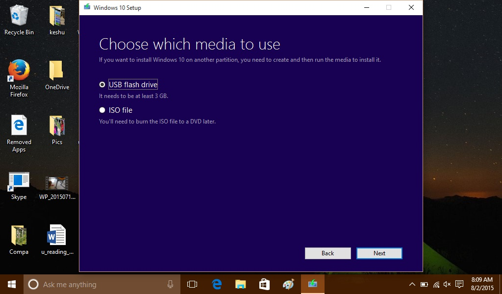 windows 10 enterprise 1709 media creation tool