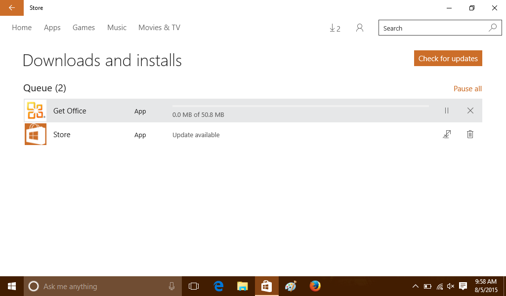 windows 10 store updated with store icon fix play option for