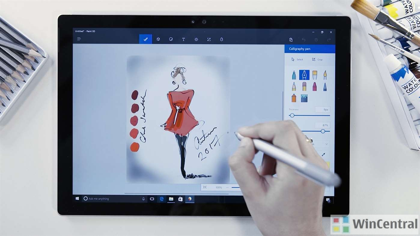 Microsoft highlights the features of paint 3d app with for App to paint on pictures