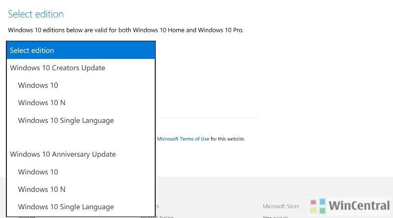windows 10 home single language update