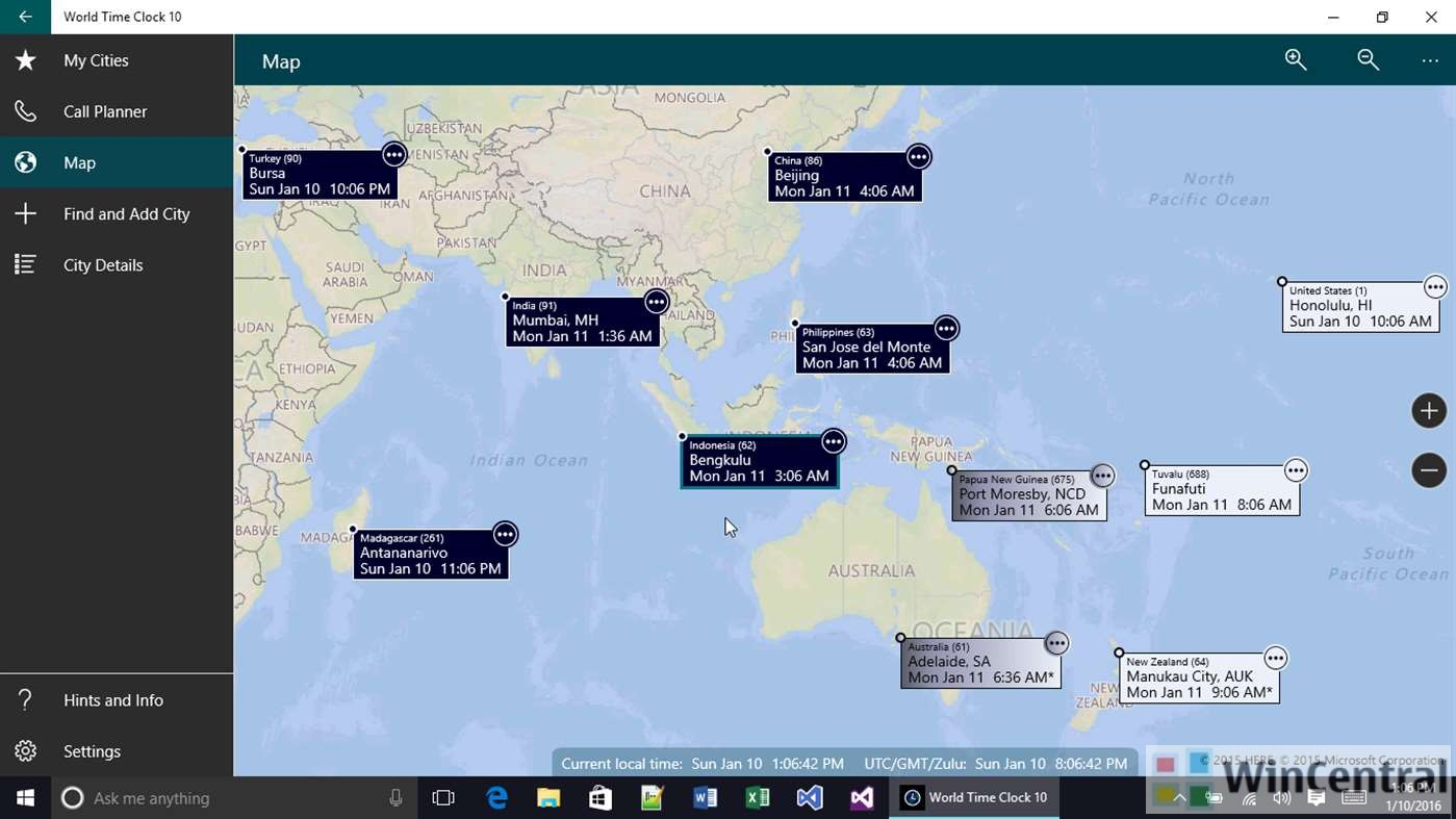 world time clock for windows phone goes free as myappfree app of the day