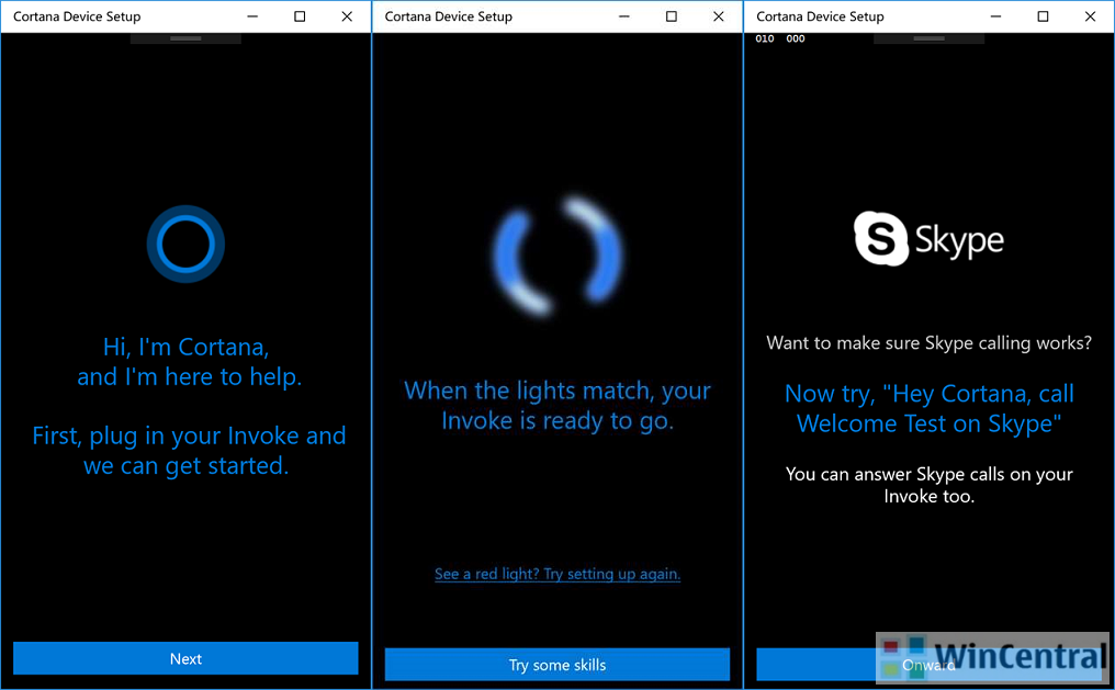 Cortana Device Setup