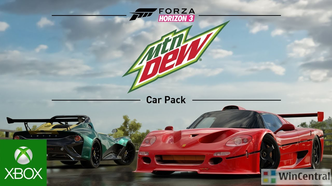 mountain dew car pack for forza horizon 3 arrives today features 7 new cars. Black Bedroom Furniture Sets. Home Design Ideas