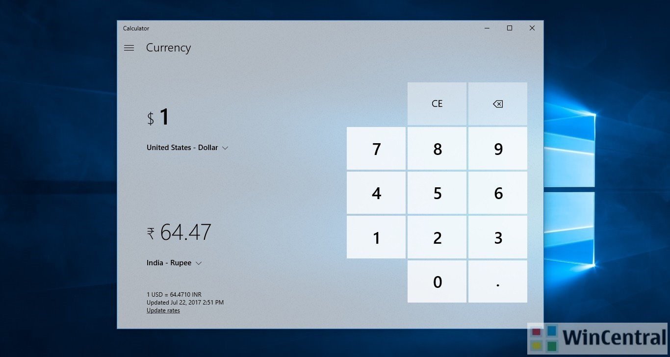 Calculator On Windows 10 Pc And Mobile Has Received An Update In The Latest Adds A Very Useful Handy Feature For People