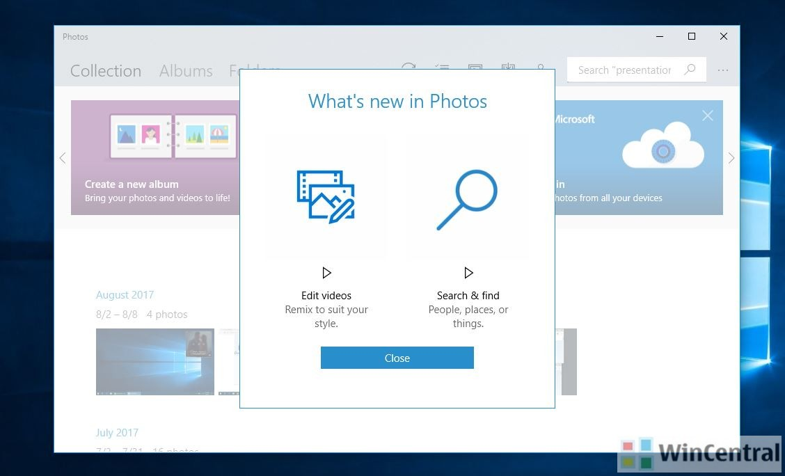 Photos app update on windows 10 cu adds video editing search find microsoft has released a pretty useful update for its photos app on windows 10 pc this update version 2017350631316100 is now rolling out to users on ccuart Choice Image