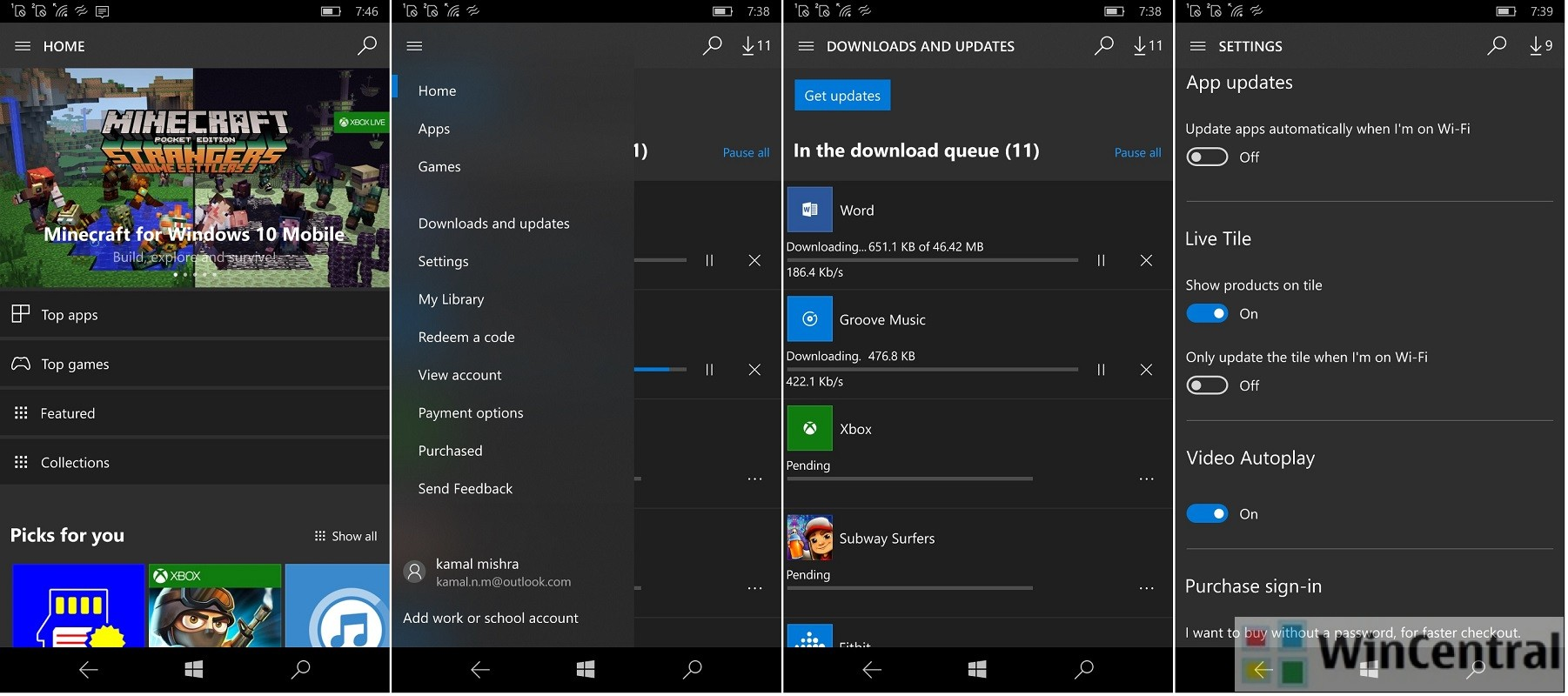 Windows 10 Mobile Store app removes fluent design with the