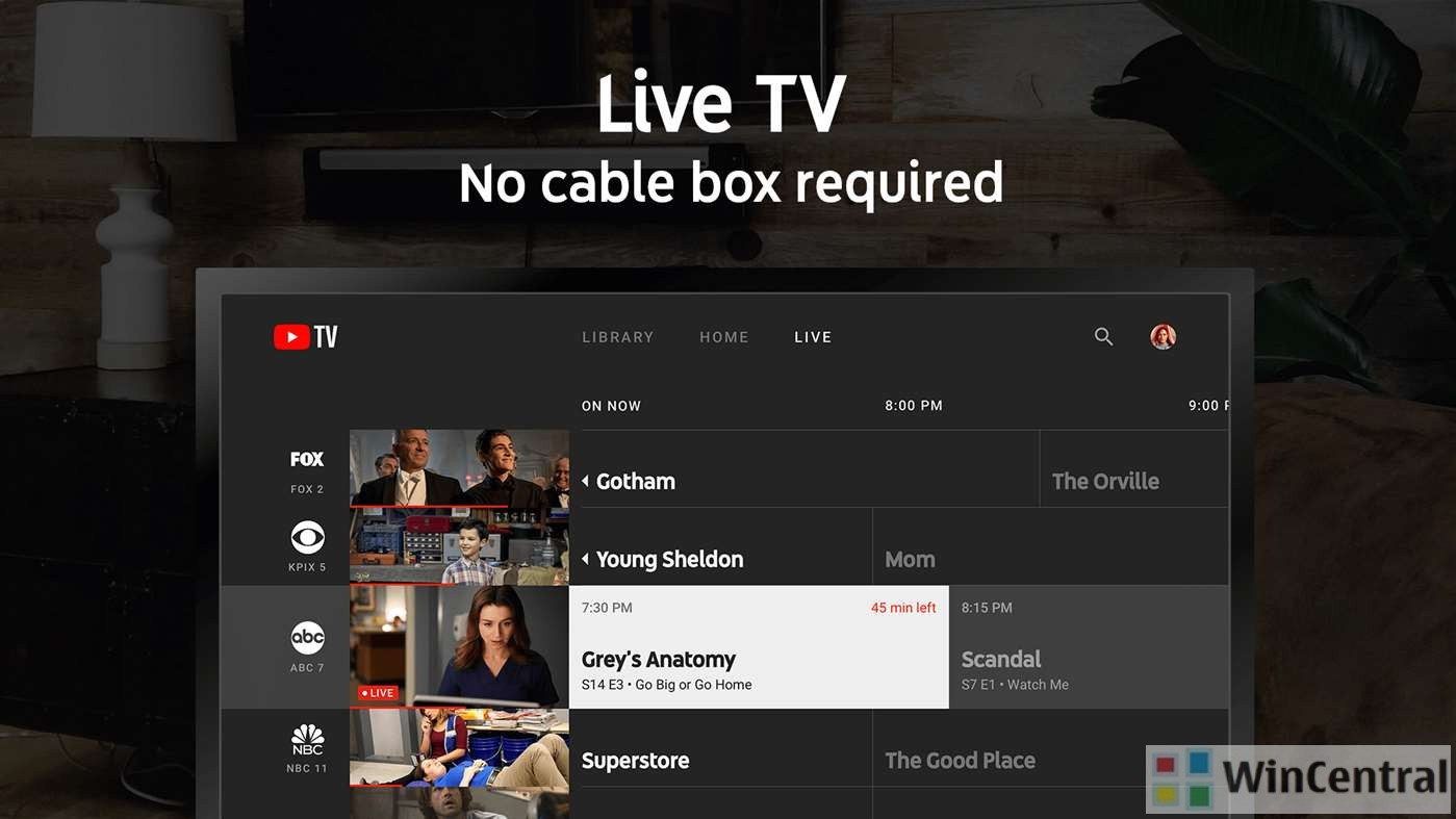 Google Inc releases YouTube TV app for Xbox One.