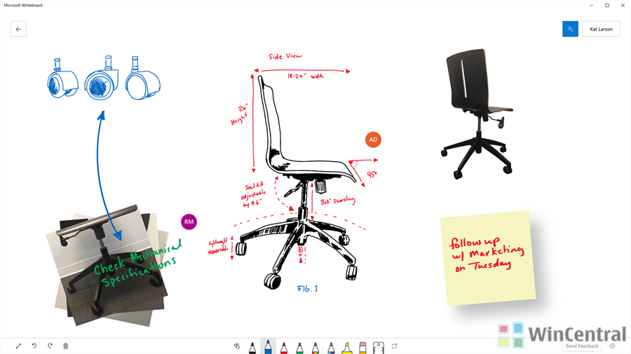 Microsoft's collaborative Whiteboard app for Windows 10 rolls out of private beta