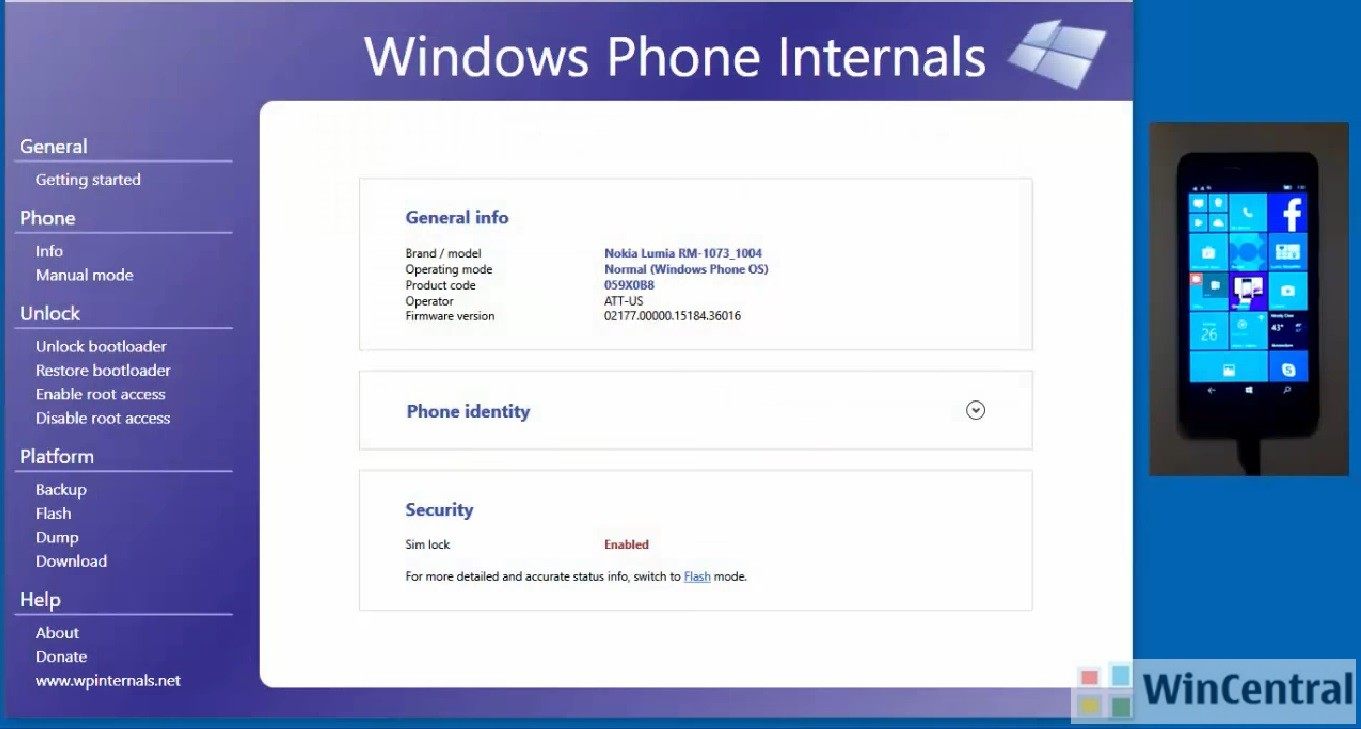 the developer of windows phone internals a tool with support to unlock bootloader and flash custom rom on all lumia models may start working on porting