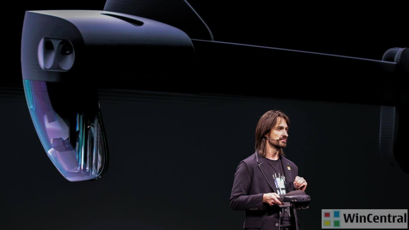 Alex Kipman with HoloLens 2
