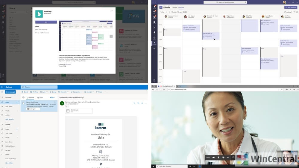 Bookiings app in Microsoft Teams