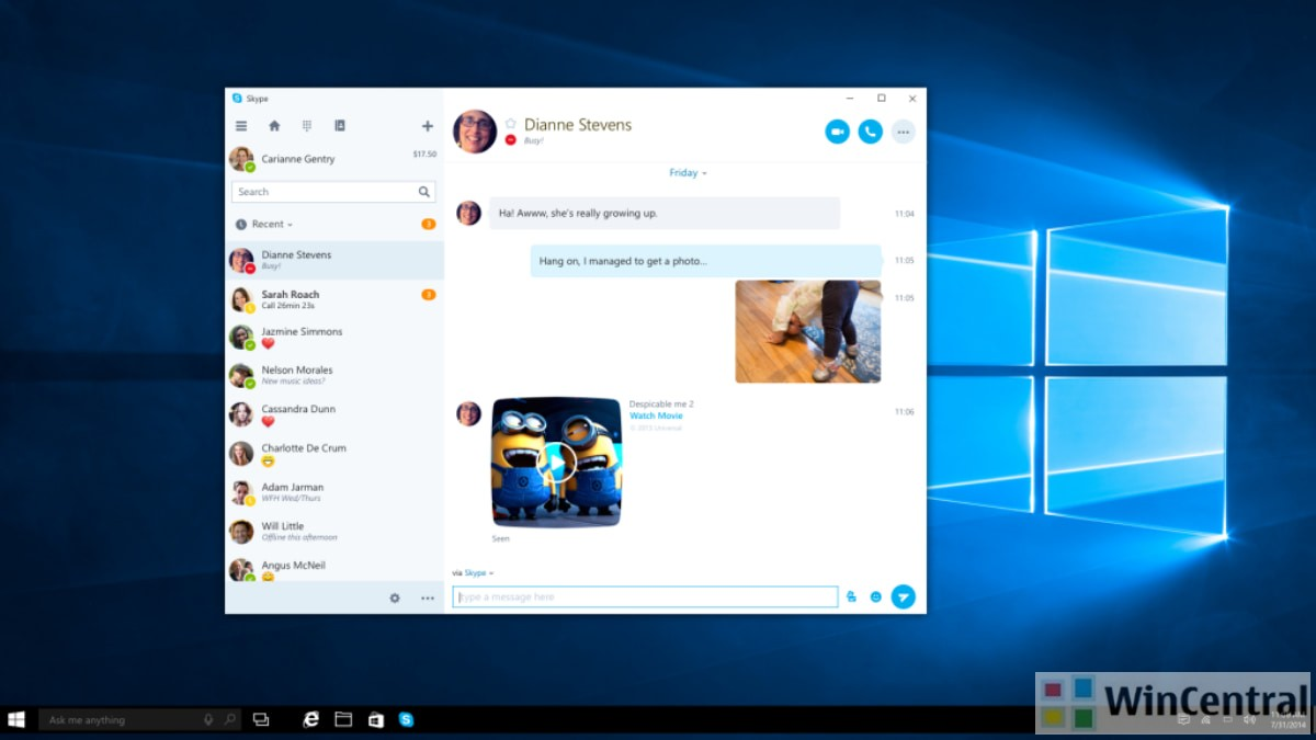 Skype for Windows 10 app