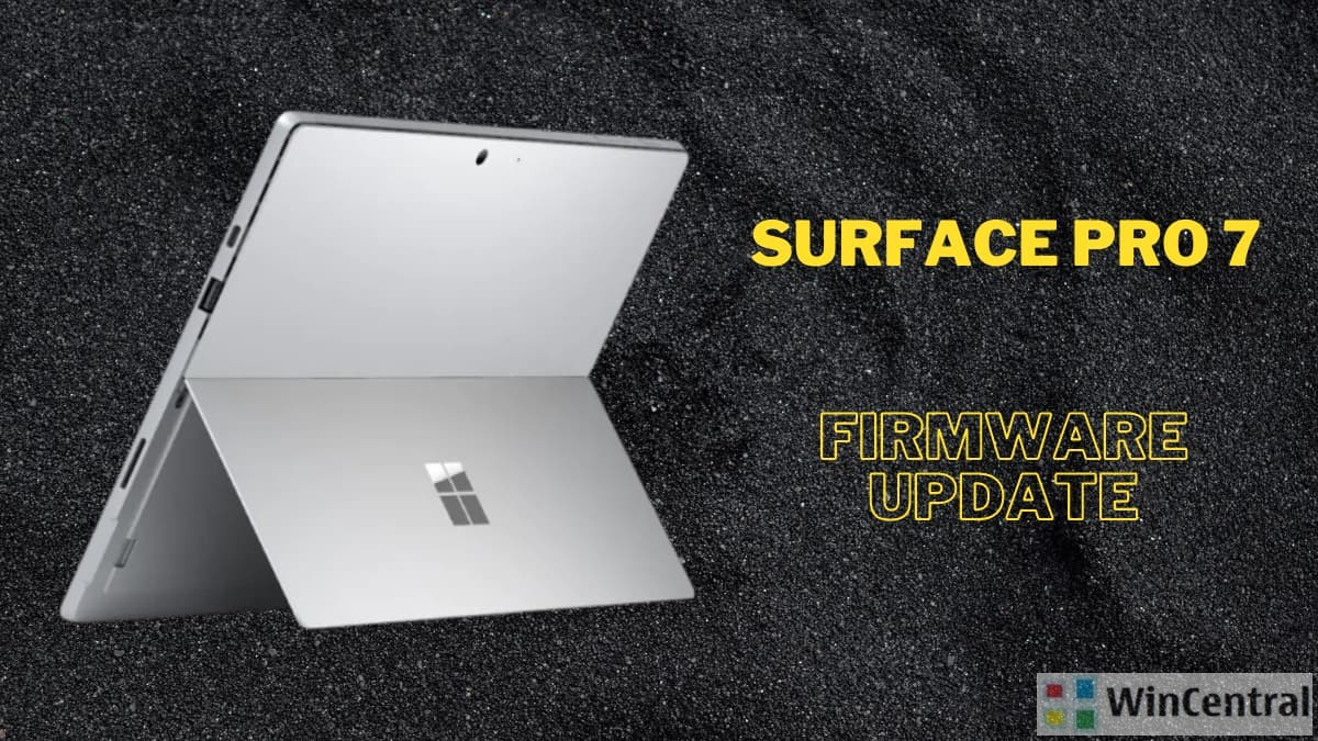 Surface Pro 7 firmware update