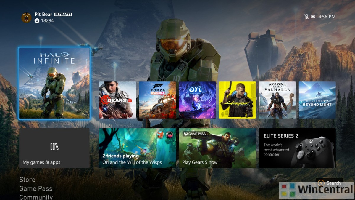 Xbox One Landing Page