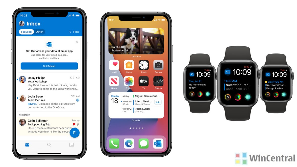 Updates to Outlook, OneDrive on iOS 14