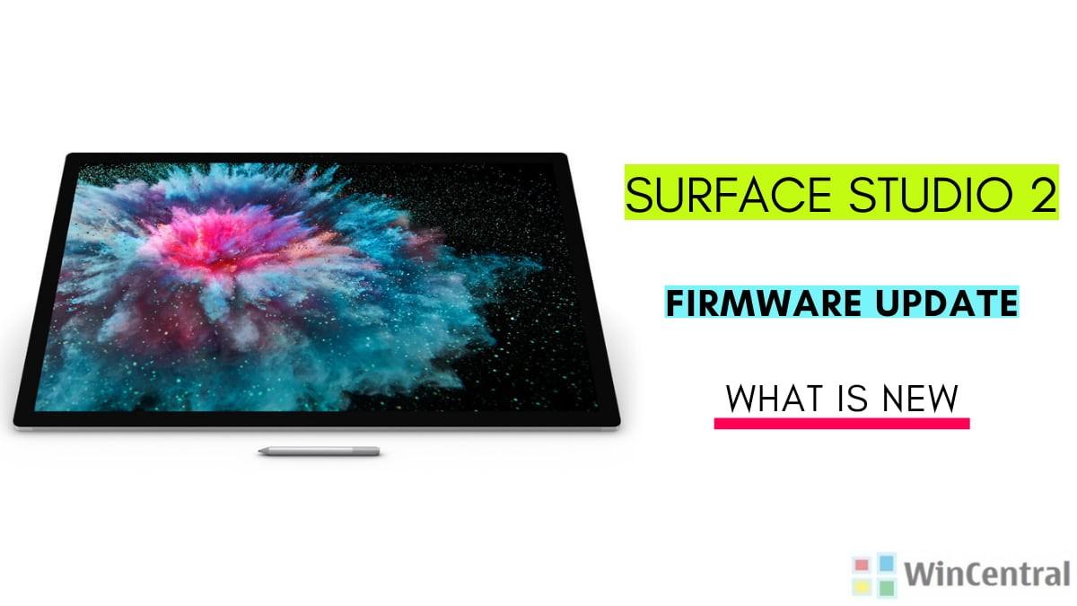 Surface Studio 2 firmware update